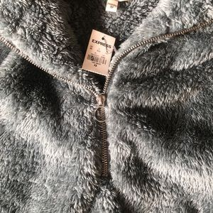 Express Tops - NWT Express fuzzy jacket